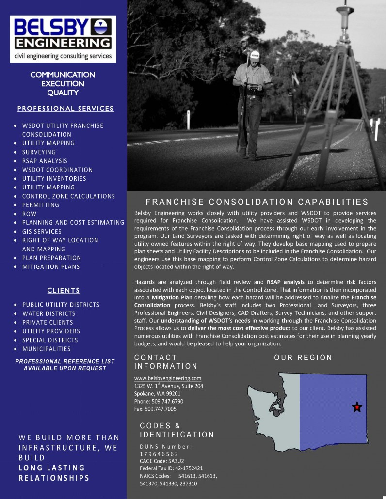 Belsby - Capabilities Statement - WSDOT Franchise Consolidation